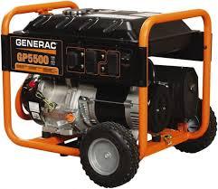 Generac Power 10 Hr Half Load Time 5 500 W Pull Start
