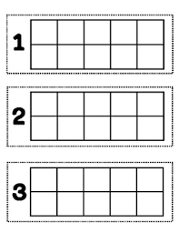 10 frame template ten frame template for manipulatives could use as a math center or