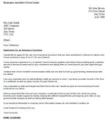 Insurance Executive Cover Letter Example Icover Insurance Broker