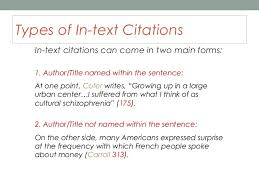building a research paper plagiarism and in text citations 11 types of in text citations