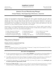 management experience resume experienced manufacturing manager gallery of sample resume management position