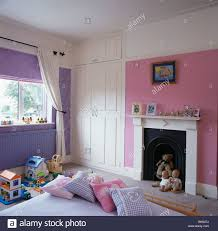 Mauve Bedroom Pink And Mauve Childs Bedroom With White Fitted Wardrobe And