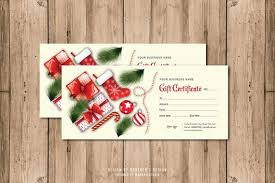 Christmas Certificates Templates For Word Awesome Gift Certificate TemplateEditable MS Word Adobe Photoshop Etsy