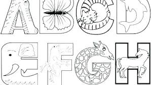 Alphabet Coloring Pages Free Alphabet Animals Coloring Pages