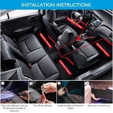 Car Seat With Lights Car Led Strip Lights 4 Packs 48 Led Car Interior Lights