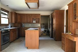 first i thought i should show you what our kitchen looked like when we first got the keys to the house we completely removed all of the cabinetry on the