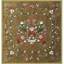 Flower Garden Wool Applique Quilt Pattern & Antique Flower Garden Wool Applique Quilt Pattern Adamdwight.com