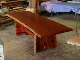 natural slab table jarrah timber custom