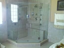 shower stalls with bench framless corner glass shower enclosure