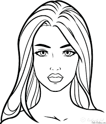 Coloring Pages Face Coloring Pages For Makeup Face Coloring Pages