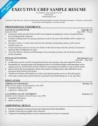 Gallery Of Chef Resumes Examples