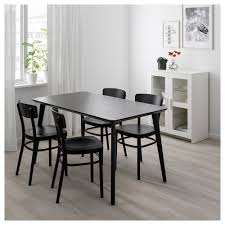 Lisabo Idolf Tisch Und 4 Stühle Schwarz Schwarz In 2019