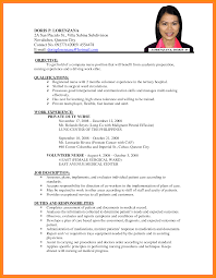 4 Sample Cv For Job Application Nurse Resumed