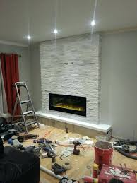 install electric fireplace in rv recessed the built ideas grey into existing