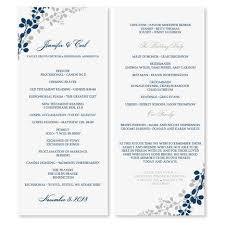 Microsoft Wedding Program Templates Wedding Program Template Download Instantly Edit Your Wording