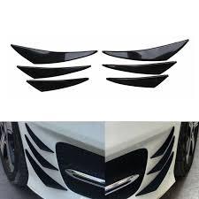 Automotive <b>6Pcs</b> Car Front Bumper Lip Splitter Fins Body Spoiler ...