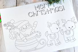 merry christmas coloring page. Exellent Merry Santa And Reindeer Christmas Coloring Pages To Print For Merry Page C