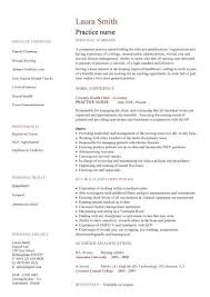 Nurse Cv Template Cool Nursing CV Template Nurse Resume Examples Sample Registered
