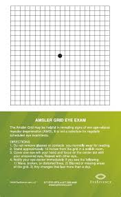 Age Related Macular Degeneration Eye Chart Amsler Grid Magnet Attach To Your Refrigerator Or A