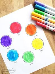 This worksheet contains 12 color flashcards. Color Wheel Printables For Kids 100 Directions