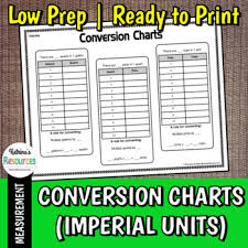 Length And Distance Conversion Chart Conversion Charts For Volume Length And Distance Imperial Units