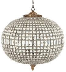 Casa Padrino Luxus Kristallglas Kronleuchter Antik Messing