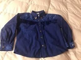 Vintage Lilia Smith Western Attitude Cowgirl Shirt Girls Size Large Royal  Blue | eBay