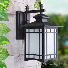 2019 outdoor wall lights exterior lantern lamp antique vintage garden wall lights durable aluminum outdoor lighting fixture wall lighting from lightzone