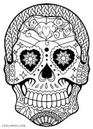 Day Of The Dead Skull Coloring