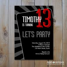 13 Birthday Invitation Templates Beautiful Teenage Birthday Party Invitations To Create Your Own