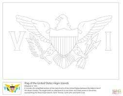 Small Picture Flag of The United States Virgin Islands coloring page Free