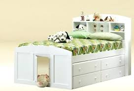 Beds With Storage Underneath F White Painted Wooden Twin Bed Frame ...