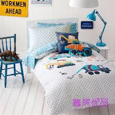 free cementing truck excavator bedding set kids boys cartoon 3pcs 4pcs wrecker quilt cover pillowcase without