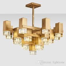 new design luxury royal led pendant lamps crystal chandeliers light elegant creative led gold pendant lights for restaurant club bar duplex stainless steel