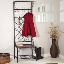Metal Entryway Bench With Coat Rack Entryway Bench With Coat Rack And Shoe Storage Home Design Ideas 97