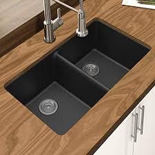 black undermount sink. Modren Undermount Winpro New Black Granite Quartz 33u0026quot X 1834u0026quot 9 With Undermount Sink 3