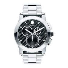 movado watches movado watches for him her zales men s movado vizio chronograph watch black carbon fiber dial model 0606551