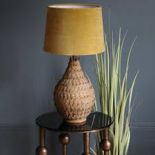 Velvet Lamp Shade Yellow