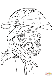 Small Picture Firefighter Portrait coloring page Free Printable Coloring Pages