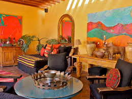 furniture in mexico. Mexican Patio Furniture With Round Table And Brick Motif Tiles Ideas In Mexico