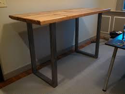 custom standing desk kidney shaped mid.  Shaped Custom Standing Desk Statim Industrial With Steel Tu Metal U  Legs Kidney Shaped Mid