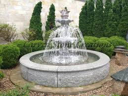 fountain designs for home. two-tiered outdoor garden fountain designs for home e
