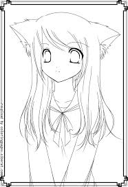 Anime Girl Coloring Pages Cute Coloring Pages Cute Anime Coloring