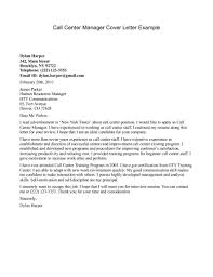 Best Sample Cover Letter For Call Center Representative 13 For