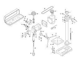 drill press parts. skil 3320-(f012332000) parts schematic drill press