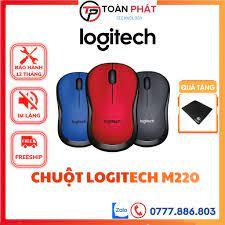 Chuột máy tính không dây Logitech M220 Chính hãng - Chuột không dây giá rẻ, chuot  khong day bán chạy nhất - Chuột Máy Tính