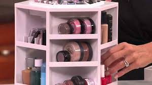 tabletop spinning cosmetic organizer by lori greiner with jill bauer you
