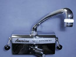 a special faucet for vintage american brand kitchen drainboard