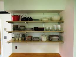 Kitchen Wall Racks And Storage Attractive Kitchen Design With Wall Shelving Wooden Kitchen And
