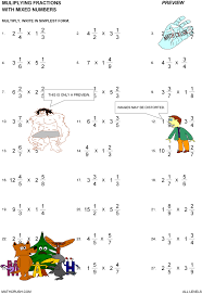 Multiplication Division Addition Subtraction Worksheets Math ...